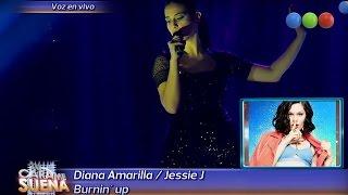 Diana Amarilla es Jessie J, Burnin Up - Tu Cara me Suena 2015