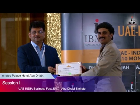 UAE - INDIA Business Fest 2017 (Abu Dhabi Emirate) [Session -1]