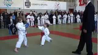 Варвара Шебанова 5 лет. Первые соревнования по каратэ (кумитэ)