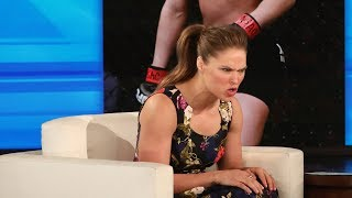 Ronda Rousey Shows Ellen How to Mean Mug thumbnail