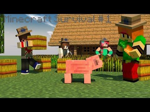 The Beginning | Minecraft Survival (Xbox 360) w/ Friends #1
