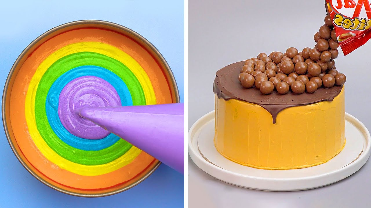 Top Yummy Rainbow Chocolate Cake Decorating Recipes | Homemade Dessert Ideas For Your Family