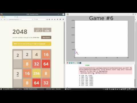 Training a CNN to play 2048 with reinforcement learning (reach 2048 in 28 games)