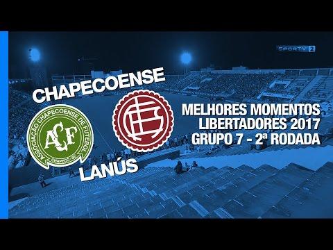 Melhores Momentos - Chapecoense 1 x 3 Lanús - Libertadores - 16/03/2017