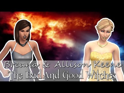 Sims 4 CAS: Good & Bad Witch Sisters (Breana & All...