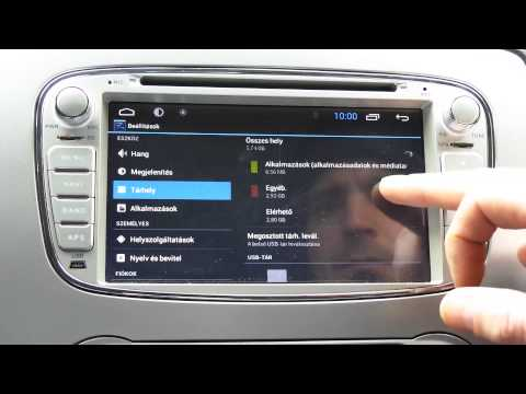 Android Multimedia GPS System Basic features in a Ford Focus MK2 II Part #1
