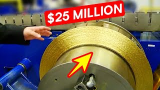 Melting Pure Gold Technology - Modern Gold Bars and Coins Manufacturing Process ▶ 1