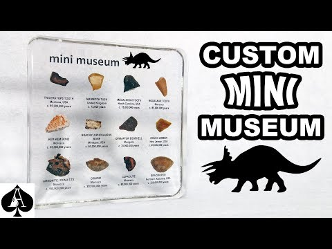 Making a Custom Jurassic Mini Museum with REAL Dinosaur Fossils and Resin