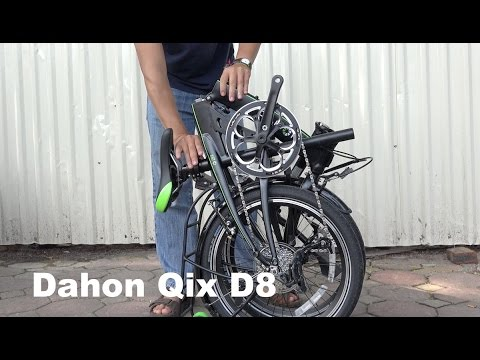 Dahon Qix D8 Folding Bike - How to Fold and Unfold - YouTube