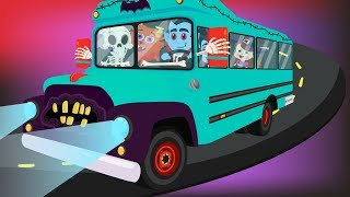 Wheels on the Bus with Monster Song Halloween Nursery Rhymes Songs for Kids - Wheels on the Bus Kids