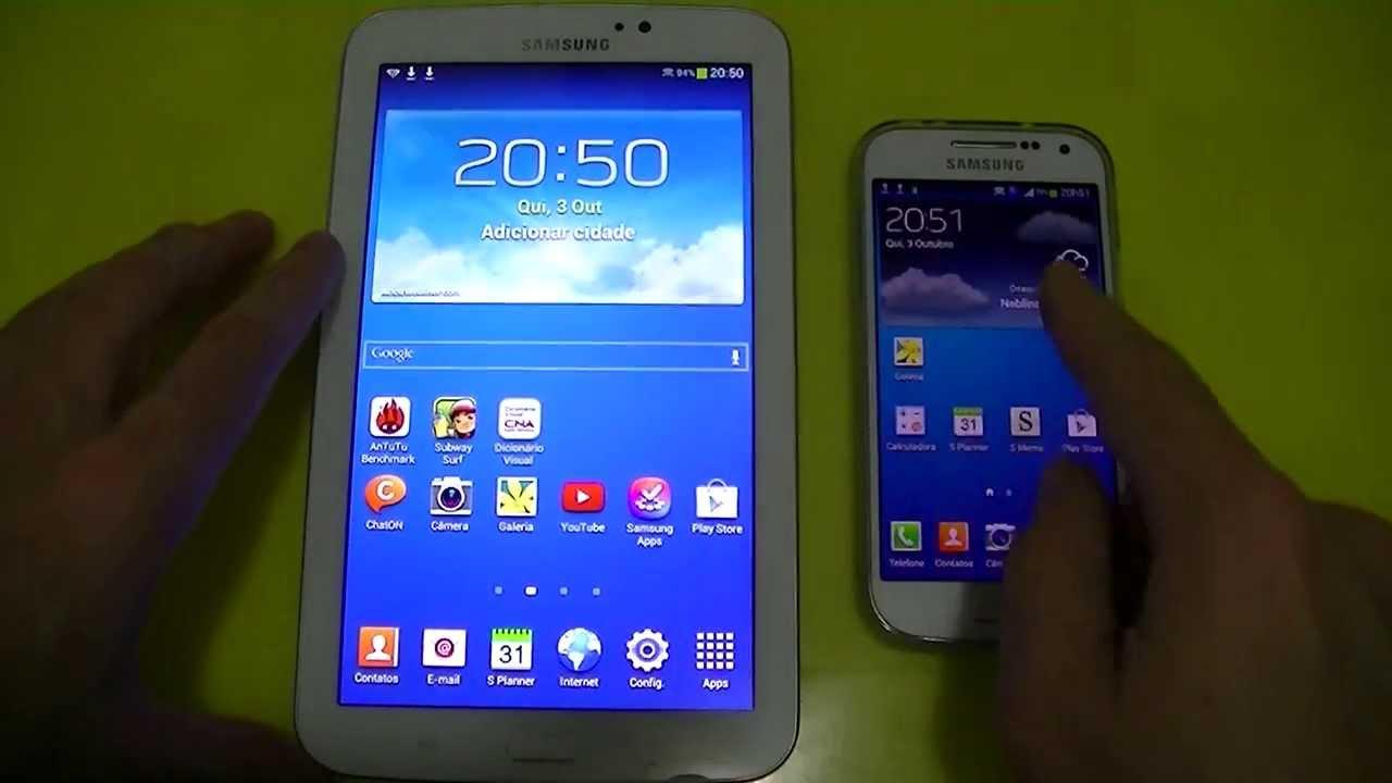 Samsung Galaxy S4 Mini I9192 E Samsung Galaxy Tab 3 T210