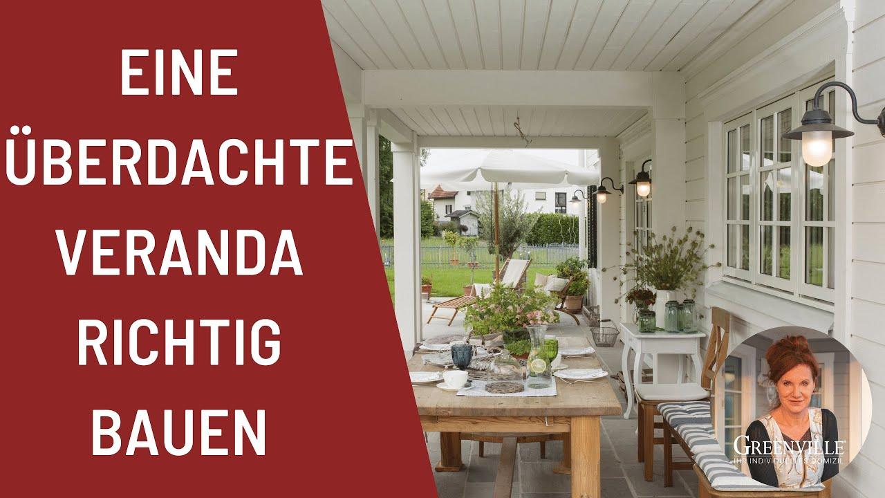 eine berdachte veranda richtig bauen new england haus schwedenhaus holzhaus landhaus youtube. Black Bedroom Furniture Sets. Home Design Ideas
