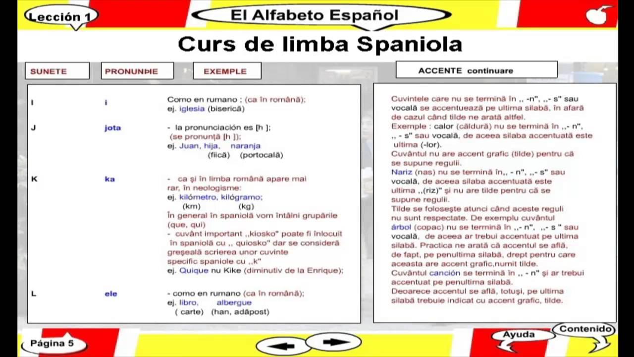 în limba spaniolă