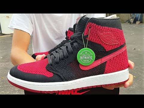 AIR JORDAN 1 HI FLYKNIT BRED REVIEW + IS StockX LEGIT   First Purchase From  StockX... Legit   Fake   7106d3dcc