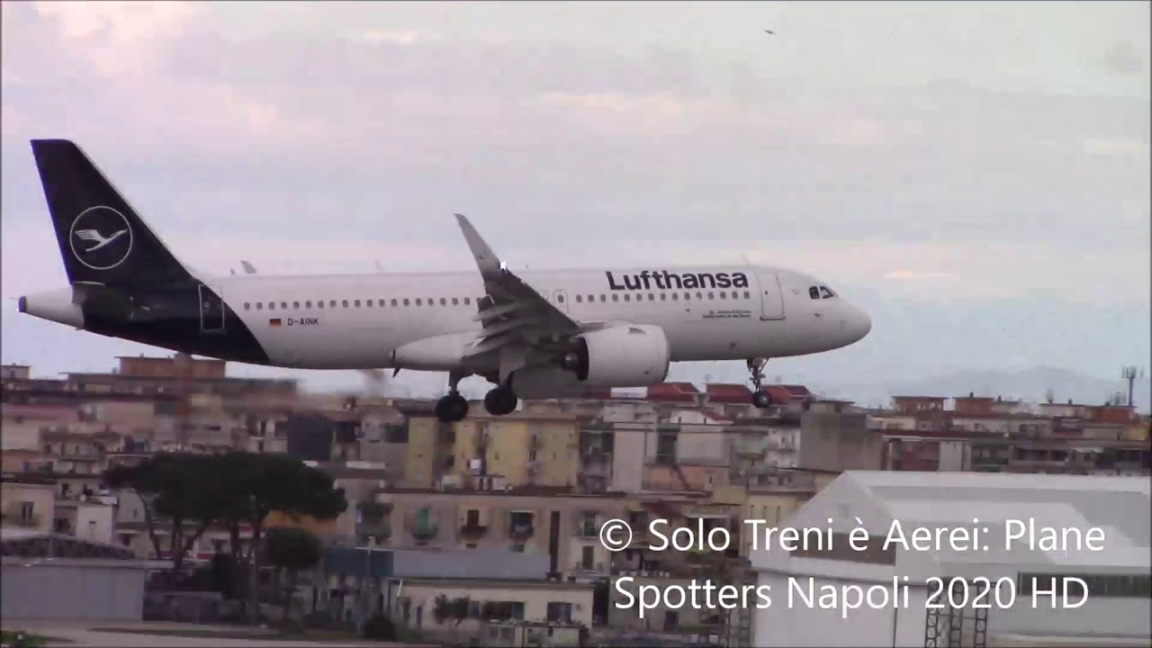 Plane Spotters Napoli Various landings in Naples Capodichino HD 08/03/2020 RWY06