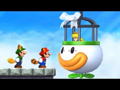 New Super Mario Bros 2 - All Final Castles (2 Player)
