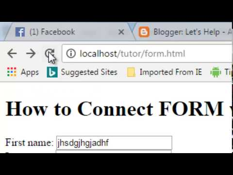 How To Connect Html Form With Database