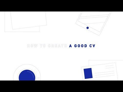 How to Create a Good CV