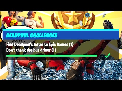 Find Deadpool's Letter To Epic Games & Don't Thank The Bus Driver - Fortnite Deadpool Challenges