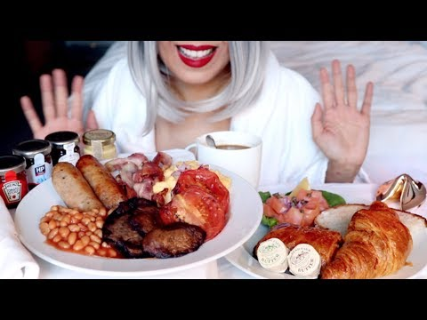 ASMR Eating English Breakfast in London |Soft Sounds *No Talking*