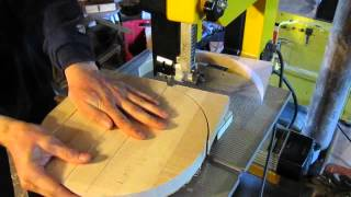 Band Saw Jig For Rounding Blanks For Woodturning