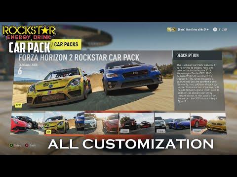 Forza Horizon 2 - ALL Customization for Rockstar Energy Drink Car Pack