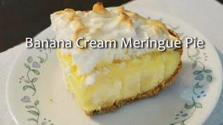 Banana Cream Meringue Pie (less Fat Less Sugar)