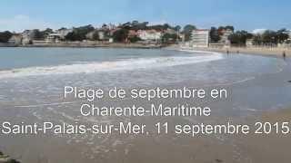 Plage de septembre en Charente-Maritime, Saint-Palais-sur-Mer