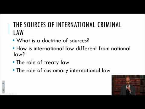 Foundations and Sources of International Criminal Law