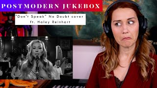 """Download Postmodern Jukebox """"Don't Speak"""" No Doubt Cover ft Haley Reinhart REACTION & ANALYSIS by Vocal Coach"""