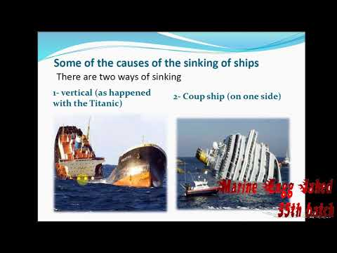 How many ways of ship sinking? (bangla tutorial) by Marine Engg Jahed