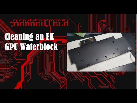 Cleaning an EK waterblock