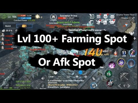Lineage 2 Revolution lvl 100+ Farming or Afk Spot