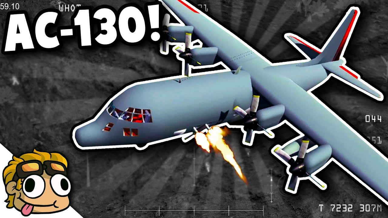 AC-130 FLYING FORTRESS! | Ravenfield Weapon and Vehicle Mod Beta Gameplay