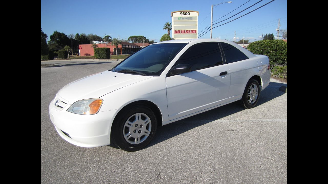 SOLD 2001 Honda Civic LX Coupe Meticulous Motors Inc Florida For Sale    YouTube