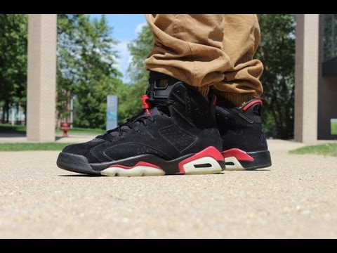 92550c542ba 2010 Varisty Red Jordan 6 On Feet Review - YouTube