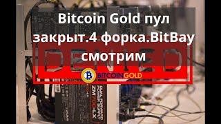 Майнинг дома. Bitcoin Gold пул закрыт. 4 форка. BitBay смотрим