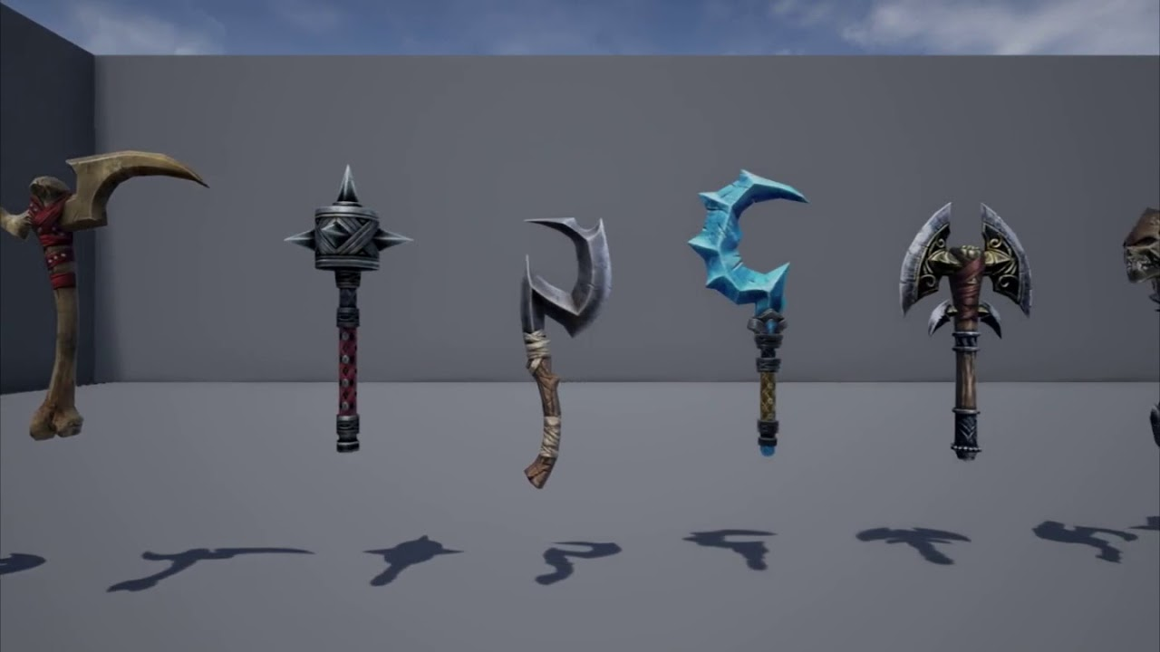 Unreal Engine 4 - Weapon Models Showcase