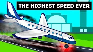 A Plane That Landed with Extremely Speed Ever