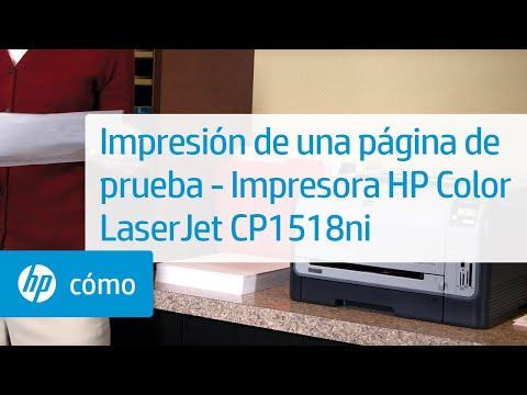 Impresión de una página de prueba - Impresora HP Color LaserJet CP1518ni