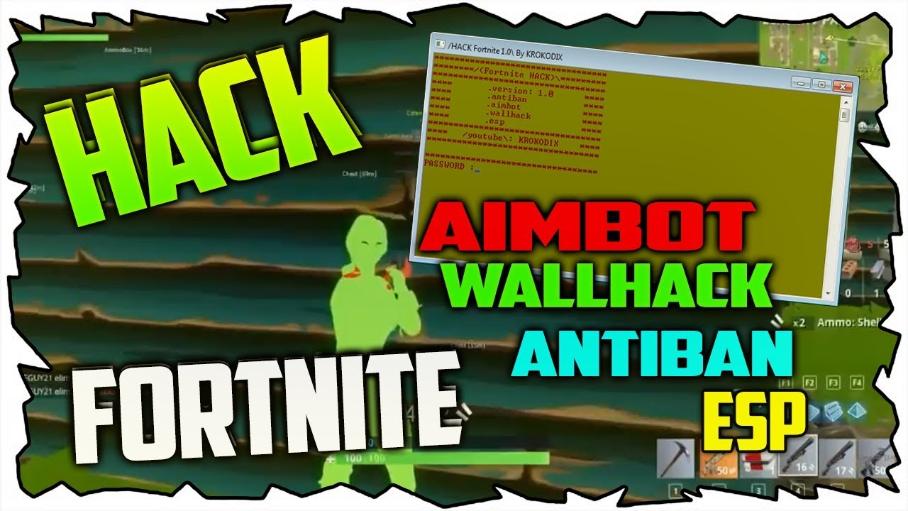 FORTNITE HACK | AntiBan! Wallhack! Esp! Aimbot! (2018) (PC) - KROKODIX
