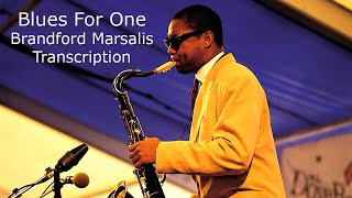 Blues For One. Branford Marsalis Solo. Transcribed by Carles Margarit