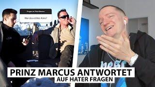 Justin reagiert auf Hater Fragen an Prinz Marcus.. | Reaktion