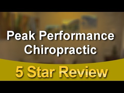 Peak Performance Chiropractic Menlo Park Superb Five Star Review by Mary G.