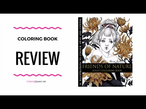 Friends of Nature  Coloring Book Review -  Jowie Lim  🍂