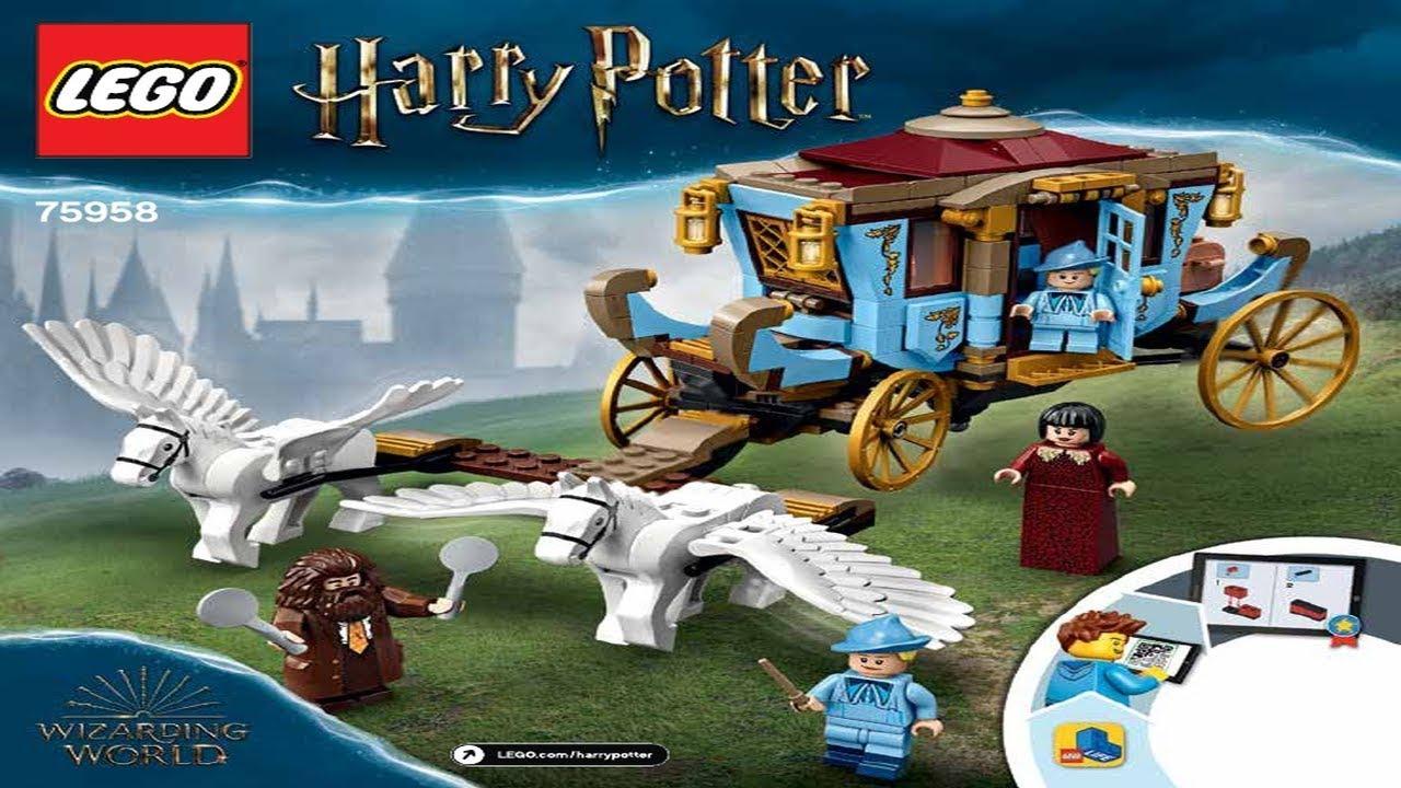 LEGO Custom Harry Potter Hogwarts Carriage INSTRUCTIONS ONLY !