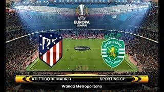 Atletico Madrid vs Sporting | UEFA Europa League 2018 | PES 2018 Gameplay HD