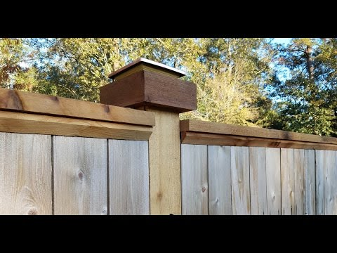 Boxing and capping your Fenceposts