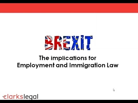 Webinar: Brexit - The implications for employment and immigration law