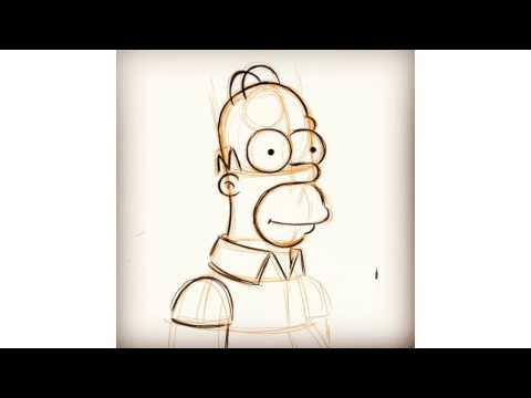 Aprender a dibujar personajes de los Simpsons